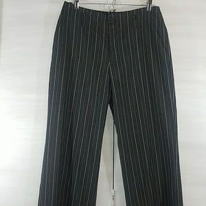 Banana Republic Silk Trousers gray pinstripe